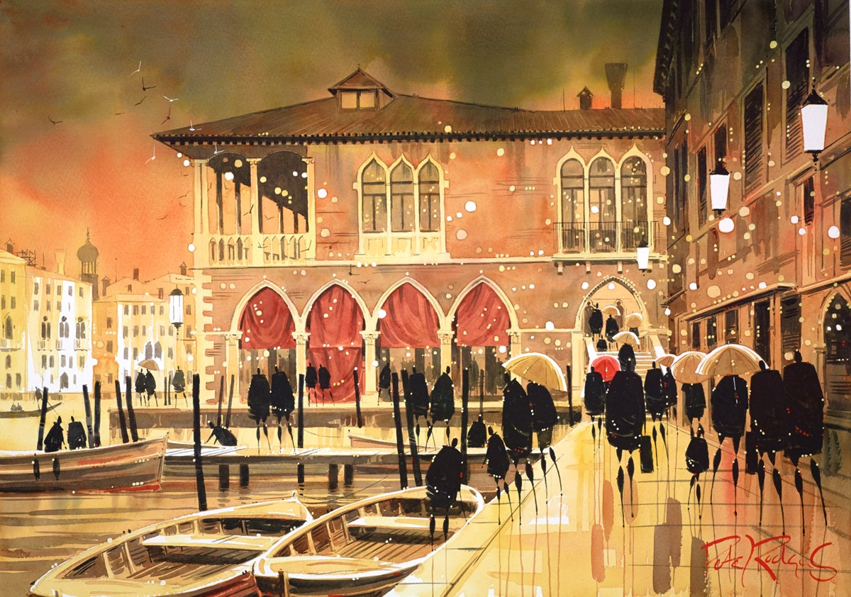 Fish Market, Venice by peter j rodgers -  sized 28x20 inches. Available from Whitewall Galleries